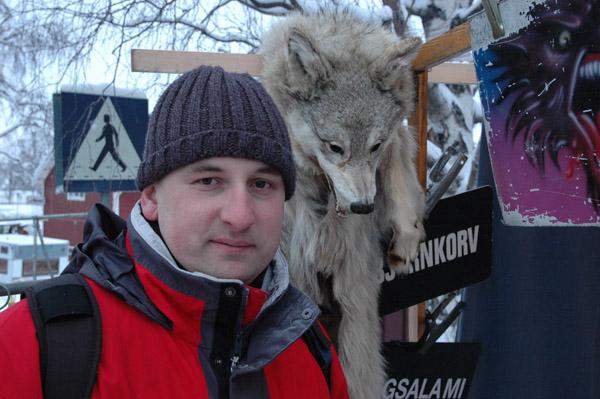 Portret z wilkiem :)