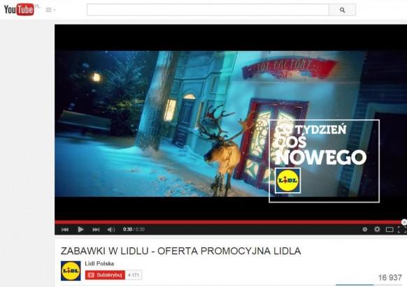Reklama LIDL - Toy Factory z reniferem