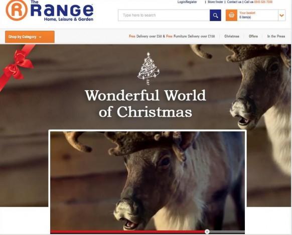Renifer w reklamie sieci The Range. Rok 2014